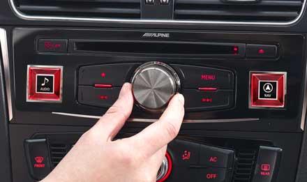 Audi A4 - X702D-A4: Alpine Control Panel