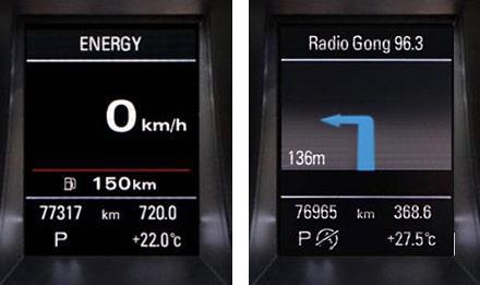 Audi A4 - X703D-A4: Driver Information Display