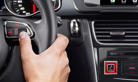 Audi A4 - X703D-A4: Steering Wheel Control Buttons