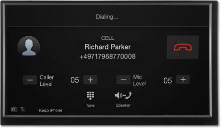 Bluetooth hands-free Dialing - Navigation System X701D-F