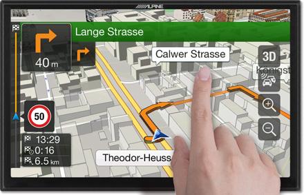 3D Maps - Freestyle Navigation System X901D-F
