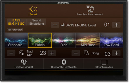 Bass Engine SQ Sound tuning - Navigation System X903DC-F