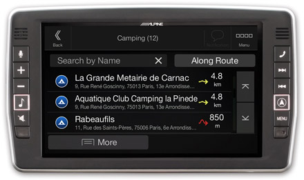 Iveco Daily - Navigation - Importable camper POI databases - X902D-ID