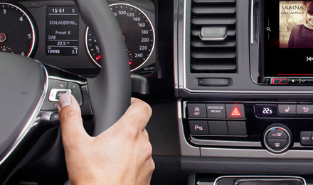 The Interface APF-X300VW supports basic functions of original steering wheel remote control